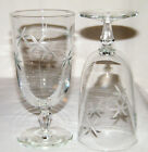 Lovely Vintage Set (2) Clear *SHOOTING STAR* WATER/IT GLASSES Mid Century EX!