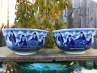 Estate Old House Qing Beautiful Thin 2xPorcelain bowls Marked Asian China Qing
