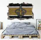New Orleans Saints Wall Art Decal 3D Smashed Football Kids Wall Decor WL163