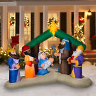 Inflatable Nativity Scene 8 Feet Long Christmas Decoration Traditional Outdoor