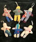 Gingerbread Men Ornaments Made From Vintage Quilts