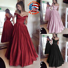 Women Off Shoulder Evening Party Dresses Ball Prom Gown Formal Wedding DressThin