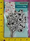 PENNY BLACK A DAY IN AUTUMN NIP fall leaves branch silhouette cling rubber stamp