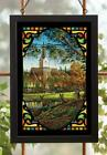 Sunday Morning Whitetail Deer Stained Glass Art by Terry Redlin