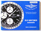 BREITLING OLD NAVITIMER AUTOMATIC INSTRUCTION MANUAL BOOK GUIDE BOOKLET I201