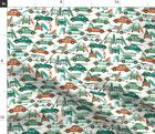 Retro Surfing Retro Summer Beach Surfing Fabric Printed By Spoonflower Bty