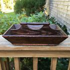 Antique 1800's Primitive Cutlery Silverware Utensil Wooden Tray Home Made Caddy