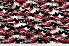 Camouflage Camo Black Red And Grey Woodland Fabric Printed By Spoonflower Bty