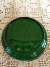 VINTAGE FOREST GREEN GLASS PUNCH BOWL BASE-ONLY