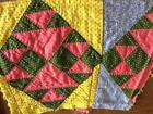 ~Back In Time Textiles~  2 Antique 1860 cutter Quilt blocks stitched by hand!!~