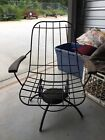 1960s MCM Homecrest 25 Metal Wire Patio Chair frame ONLY ~ it swivels and rocks
