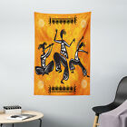 African Tapestry Native Dancer Tribal Print Wall Hanging Decor