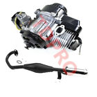 2 Stroke 43cc 47cc 49cc Engine Motor + Exhaust Pipe Muffler for Scooter e Bike