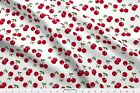 Cherry Cherries Lolita Rockabilly Rockabella Fabric Printed By Spoonflower Bty