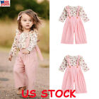US Toddler Kids Baby Girl Autumn Outfit Clothes T shirt Tops+Long Pants 2PCS Set