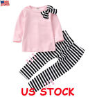 Toddler Baby Kids Girl Autumn Winter Clothes Tops T shirt Pants Outfits 2PCS Set