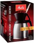 Melitta Coffee Maker 10 Cup Pour Over Brewer with Stainless Thermal Carafe