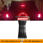 Red Third Smoked LED High Mounted Brake Tail Lights Offroad 07 17 Jeep Wrangler