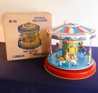 Chein Playland Mechanical Merry Go Round Tin Litho Wind Up Toy with Original Box