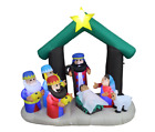 Christmas Self Inflatable Nativity Scene with Three Kings and Internal Lighting