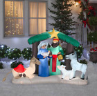 5 Christmas Self Inflatable Nativity Scene with Internal Lighting Yard Decor