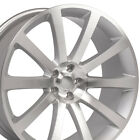 22X9 Wheels Fit Chrysler Dodge 300 SRT Silver Mach'd Rims 2253 W1X SET
