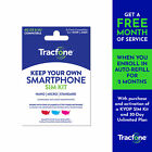 25 Gift Card Promotion Tracfone Keep Your Own Phone 3 in 1 Prepaid SIM Kit