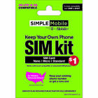 25 Gift Card Promotion Simple Mobile Keep Your Own Phone 3 in 1 Prepaid SIM
