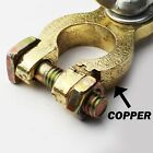 Pair Copper Brass Battery Terminal Clamp Connector Top Post Positive