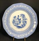 Antique English Porcelain Blue Transferware Plate With 1845 Registry Mark (21-4)