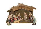 11 Piece Indoor Nativity Figurine Set with Stable Christmas Holiday Indoor Decor