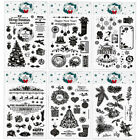 Merry Christmas Transparent Silicone Clear Stamp DIY Scrapbook Embossing Card