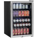 Haier Locking 150 Can Stainless Steel Beverage Center Cooler Soda Pop Beer Wine