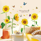 Flying Butterfly Sunflower Wall Sticker Vinyl Removable Decal Nursery Home Decor