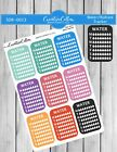 Planner Stickers a0013 Functional Icons 14 Hydrate Trackers fits all planners