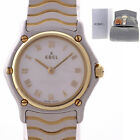 Ladies Ebel Wave Sport Classic Two Tone Gold Steel 24mm MOP Roman Quartz Watch