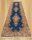 Authentic Hand Knotted Vintage Persain  Kirman Wool Area Runner 10 x 3 Ft (4621)