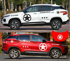 Graphics Vinyl Band Of Brothers Sticker Fit JEEP Compass Door Hood Star Decal
