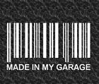 Barcode Made in My Garage Jeep Vinyl Decal Jeep Sticker Jeep Decal Jeep Life