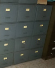 Antique Industrial Stackable Steel File Cabinet Drawers LOT