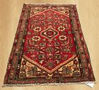 VGDY Antique Hand Knotted Abshar Wool Area Rug 4 x 2 FT (4394)