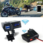 1PCS USB Digital LED 5V 3.1A Phone Motorcycle Charger Blue light Water_resistant
