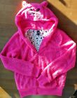 Cat Face Hoodie Womens Juniors Large Zip Up With Cat Face on Hood Pre Owned