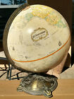 Globemaster 12 Inch World Globe Brass Base Classic Raised Relief 3D