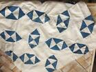 ~Back In Time Textiles~  Antique 1880-90 cutter quilt top lots of early blues!