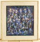 VINTAGE ABSTRACT EXPRESSIONIST OIL PAINTING Mid Century Signed Listed 50s  PAFA