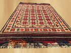 Authentic Hand Knotted Afghan Balouch Wool Area Rug 5 x 3 FT