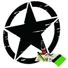 Distressed Oscar Mike Freedom Edition Star hood decal fits jeep wrangler and all