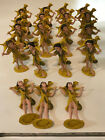 An Army of Vintage Plastic Shepherd Boy Nativity Figures Made in Italy 1950s