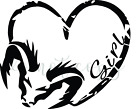 Dodge Girl Heart Rear Window Truck Window Vinyl Graphic Decal Sticker